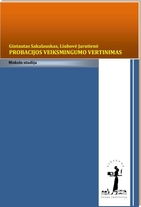 Probacijos veiksmingumo vertinimas viršelis
